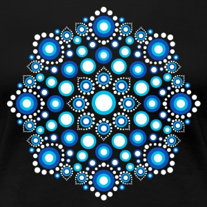 Color Dots, Dot Art, Mandala, Yoga, Meditation T-shirts - Premium-T-shirt dam