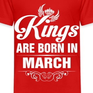 Kings Are Born In March Tshirt Shirts - Kids' Premium T-Shirt