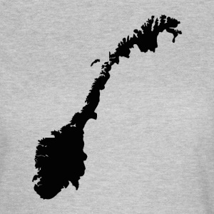Map of Norway - Norwegian Map T-Shirts - Women's T-Shirt