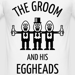 The Groom And His Eggheads (Stag Party / 1C) T-Shirts - Men's Slim Fit T-Shirt