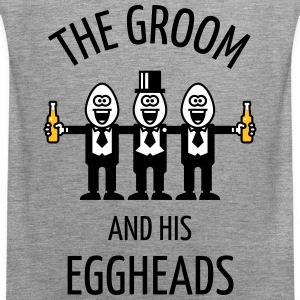 The Groom And His Eggheads (Stag Party / POS / 3C) Sports wear - Men's Premium Tank Top