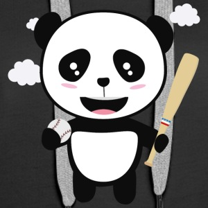 Panda Baseball Player with Ball S99m1 Hoodies & Sweatshirts - Women's Premium Hoodie