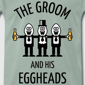 The Groom And His Eggheads (Stag Party / POS / 3C) T-Shirts - Men's Premium T-Shirt