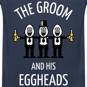 The Groom And His Eggheads (Stag Party / NEG / 3C) Sports wear - Men's Premium Tank Top