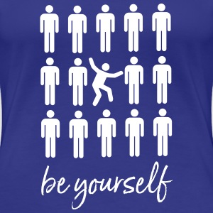 Be Yourself | Cool Pictogram Design T-shirts - Premium-T-shirt dam