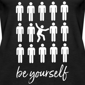 Be Yourself | Cool Pictogram Design Topper - Premium singlet for kvinner