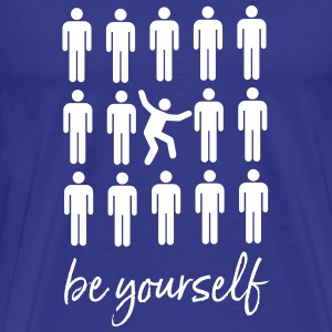 Be Yourself | Cool Pictogram Design T-shirts - Herre premium T-shirt