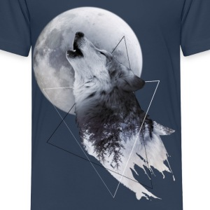 Howl with the Wolf Kinder Premium T-Shirt - Kinder Premium T-Shirt