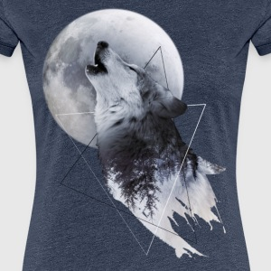 Howl with the Wolf Frauen Premium T-Shirt - Frauen Premium T-Shirt