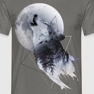 Howl with the Wolf Männer T-Shirt - Männer T-Shirt