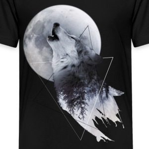 Howl with the Wolf Teenager Premium T-Shirt - Teenager Premium T-Shirt