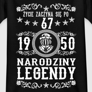 1950- 67 lat - Legendy - 2017 - PL T-shirts - Teenager-T-shirt