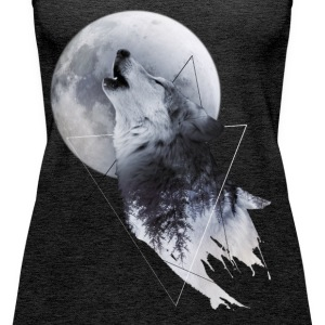 Howl with the Wolf Frauen Premium TankTop - Frauen Premium Tank Top