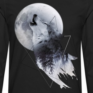 Howl with the Wolf Männer Premium Langarmshirt - Männer Premium Langarmshirt