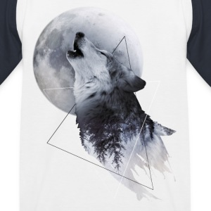 Howl with the Wolf Kinder Baseball T-Shirt - Kinder Baseball T-Shirt
