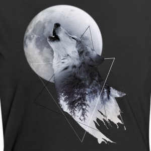 Howl with the Wolf Frauen Kontrast T-Shirt - Frauen Kontrast-T-Shirt