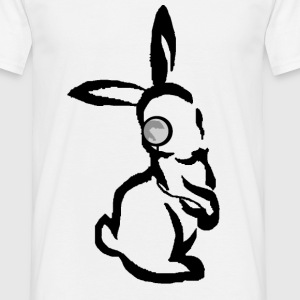 lapin monocle Tee shirts - T-shirt Homme