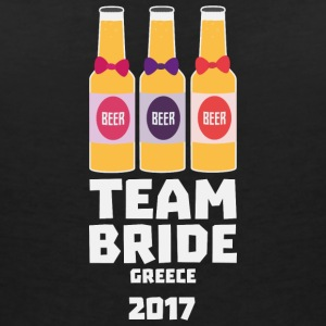 Team Bride Greece 2017 S4g58 T-Shirts - Women's V-Neck T-Shirt