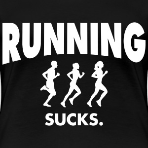 Running Sucks T-shirts - Premium-T-shirt dam