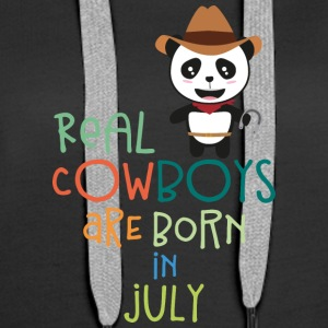 Real Cowboys are born in July Sf3vh Hoodies & Sweatshirts - Women's Premium Hoodie