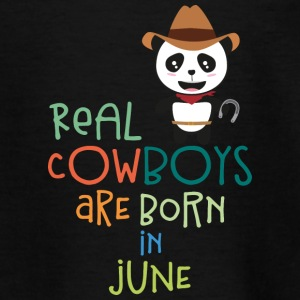 Echte Cowboys sind in June Szc4p geboren. T-Shirts - Teenager T-Shirt