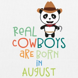 Real Cowboys are born in August Szqgg Bags & Backpacks - EarthPositive Tote Bag