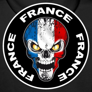 France Skull 06 Sweat-shirts - Sweat-shirt à capuche Premium pour hommes