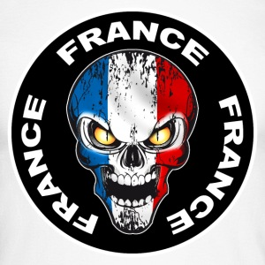 France Skull 06 Manches longues - T-shirt baseball manches longues Homme