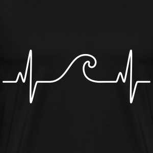 Surf  The Wave | Funny Heartbeat Design T-Shirts - Männer Premium T-Shirt