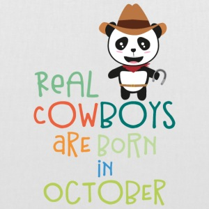Real Cowboys are born in October Secnx Bags & Backpacks - Tote Bag
