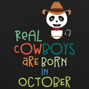 Real Cowboys are born in October Secnx Sports wear - Men's Premium Tank Top
