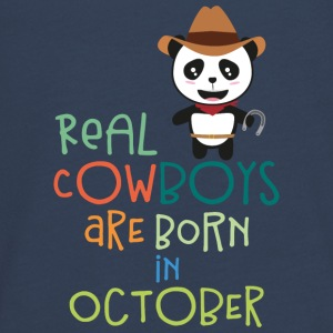 Real Cowboys are born in October Secnx Long Sleeve Shirts - Teenagers' Premium Longsleeve Shirt