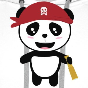 Panda Pirate with spyglass Si5wy Hoodies & Sweatshirts - Men's Premium Hoodie