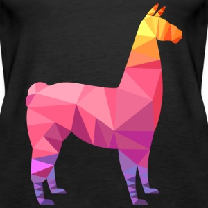Llama Low Poly | Cool Geometric Design Tops - Frauen Premium Tank Top