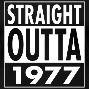 Straight Outta 1977 Funny 40th Birthday Gift T-Shirts - Women's Premium T-Shirt