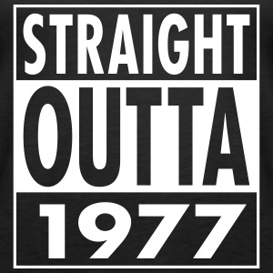 Straight Outta 1977 Funny 40th Birthday Gift Tops - Frauen Premium Tank Top
