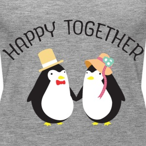 Happy Together | Cute Penguin Couple Topy - Tank top damski Premium