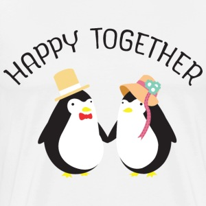 Happy Together | Cute Penguin Couple T-Shirts - Men's Premium T-Shirt