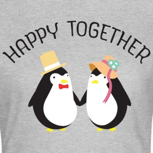 Happy Together | Cute Penguin Couple Tee shirts - T-shirt Femme