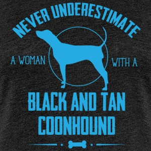 Dog Black and Tan Coonhound  T-Shirts - Women's Premium T-Shirt
