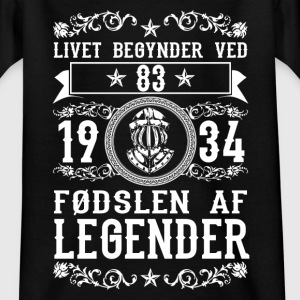 1934 - 83 ar - Legender - 2017 - DK Shirts - Teenage T-shirt