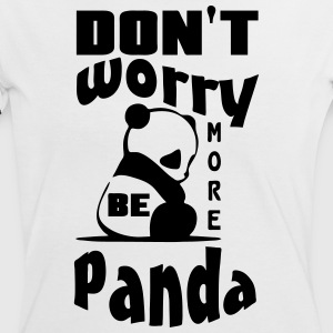 Don't worry, be more Panda - Frauen Kontrast-T-Shirt