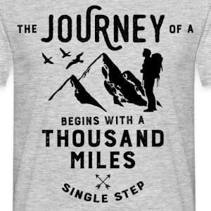 The journey of a thousand miles T-Shirts - Men's T-Shirt