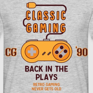 Classic Gaming - Back In The Plays T-Shirts - Men's T-Shirt