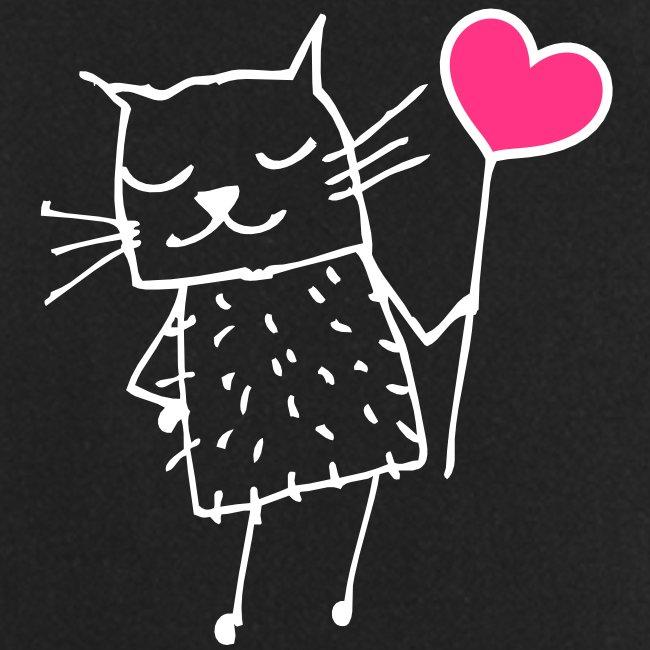Katze Herz Schürze