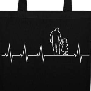 Father and daughter - heartbeat Bags & Backpacks - Tote Bag