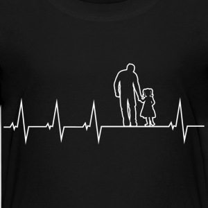 Father and daughter - heartbeat Shirts - Teenage Premium T-Shirt