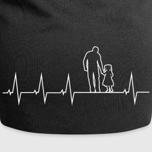 Father and daughter - heartbeat Caps & Hats - Jersey Beanie