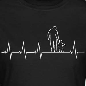 Father and son - heartbeat T-Shirts - Women's T-Shirt