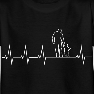 Father and son - heartbeat Shirts - Kids' T-Shirt